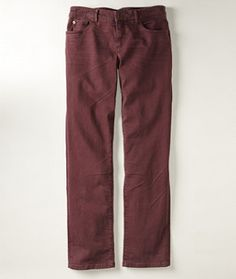 LL Bean Signature boyfriend jeans in raisin brown on sale for $49