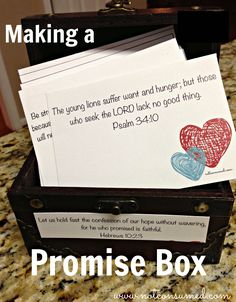 Promise box: so that we may never again forget HIS faithfulness