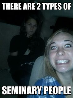I'm that girl in back...on mondays...in the car...in the classroom, I am most definitely the girl in front XD