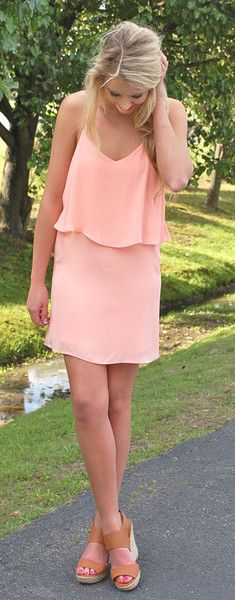 Just Peachy Strappy Dress