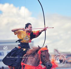Yabusame's beautiful  archer.  1,000 visits to this photo.   Thank you. by Glenn Waters ぐれんin Japan., via Flickr