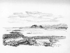 Kiotari Rhodos - Bleistiftzeichnung - Okt.95 | ©Manfred Cremer, Bensberg, DE