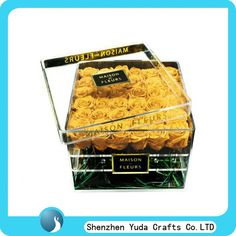 Luxury clear acrylic storage containers romantic square cube flower display box with lid, View clear acrylic storage containers, no Product Details from Shenzhen Yuda Crafts Co., Limited on Alibaba.com