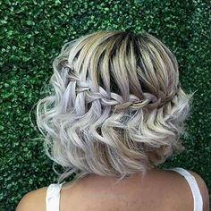 50 Incredibly Cute Hairstyles for Every Occasion | StayGlam  Waterfall Braid for Short Hair (Bob) #hair:  http://www.tophaircuts.us/2017/06/14/50-incredibly-cute-hairstyles-for-every-occasion-stayglam/