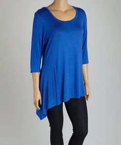 This Royal Sidetail Tunic - Plus is perfect! #zulilyfinds