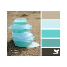 Design Seeds for all who color sea glass ❤ liked on Polyvore featuring backgrounds