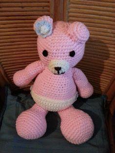 amigurumis piolina: Osita bebe rosa.