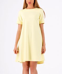 Loving this Yellow Shift Dress on #zulily! #zulilyfinds