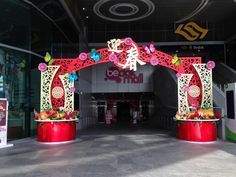 Lunar New Year decoration of Arch at outside