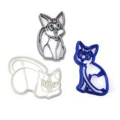 Sailor Moon Cat Family Cookie Cutter Set - Luna Artemis and Diana