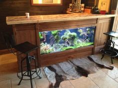 Living Water aquarium stands rustic-home-office
