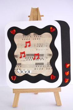 Musical Themed Handmade Valentine's Card £4.00