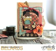 Card for Teacher, ABC Primer, by Elena Olinevich, product by Graphic45, photo 1