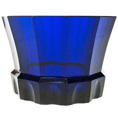 Josef Hoffmann Wiener Werkstatte Faceted Cobalt  Blue Glass Bowl | From a unique collection of antique and modern glass at http://www.1stdibs.com/furniture/dining-entertaining/glass/