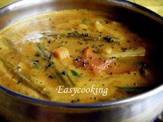 Varutharacha Sambhar ~ Sambhar with roasted Coconut & Spices