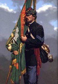 Regiment Massachusetts Volunteer Infantry by Michael Gnatek American Revolutionary War, American Civil War, American History, Irish American, American Soldiers, Civil War Flags, Civil War Art, Military Art, Military History