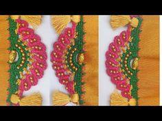 Bridal Saree Kuchu /ಸೀರೆ ಕುಚ್ಚು /Bridal Saree Kuchu design w Saree Kuchu New Designs, Saree Tassels Designs, Bead Embroidery Patterns, Beaded Embroidery, Embroidery Designs, Hand Work Blouse Design, Simple Blouse Designs, Crochet Lace Edging, Crochet Flower Tutorial