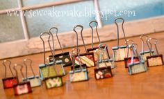 The Sew*er, The Caker, The CopyCat Maker: Binder Clips All Dressed Up