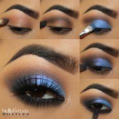 # Glamorous Eye Makeups That You Might Consider Trying Motives Makeup, Eyebrow Makeup Tips, Eye Makeup Steps, Eyeshadow Makeup, Makeup Art, Beauty Makeup, Face Makeup, Eye Makeup Designs, Makeup Goals