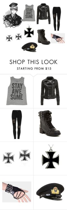 """""""Hetalia ~ Prussia"""" by anime-lover09 ❤ liked on Polyvore featuring Akiko, Billabong, MIA, AeraVida, women's clothing, women, female, woman, misses and juniors"""