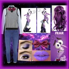 Disney's Inside Out Fear Costume by meghan1 on Polyvore featuring polyvore fashion style Dorothy Perkins