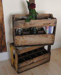 Casier de transport ancien pour bouteilles