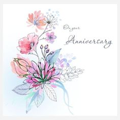 Representing leading artists who produce children's and decorative work to commission or license. Anniversary Greetings, Anniversary Cards, Watercolor Cards, Watercolor Flowers, Tattoos Representing Children, Small Wing Tattoos, Skull Tattoo Design, Tattoo Designs, Holiday Messages