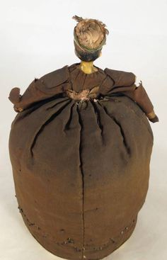 Antique C 1830 Wood Milliners Half Doll PIN Cushion Beautiful Face | eBay