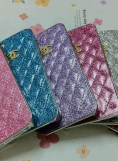 New Chic Luxury Bling Sparkle PU Sheep Leather iPhone Case,  Accessory, bling bling   sparkle  rhinestones  iphone 5, Chic