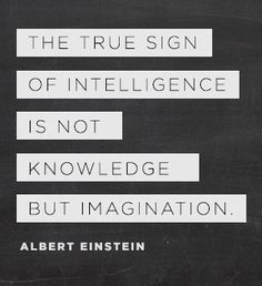 """The true sign of intelligence is not knowledge, but imagination."" - Albert Einstein"