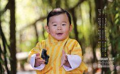 Prince héritier Jigme Namgyel du Bhoutan, 1 an, né en 2015