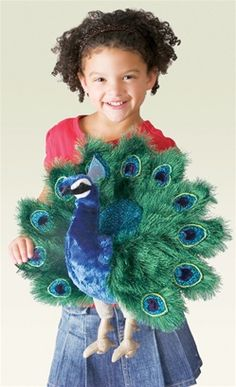 Peacock Full Body Puppet by Folkmanis Puppets
