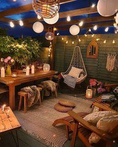 Backyard Patio Designs, Backyard Landscaping, Patio Ideas, Backyard Hammock, Outdoor Living, Outdoor Decor, Small Patio, Home Decor Inspiration, Design Inspiration