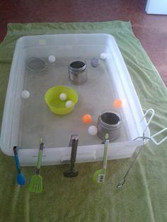 Invitation to play Ping Ping Fishing with tong-Tu Tamariki - Play Based Learning
