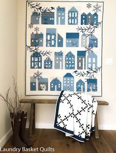 Blue Sky Collection by laundry basket quilts blog