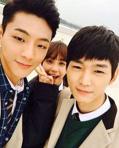 Ji Soo, Eunji, and Lee Won Geun on Sassy go go Eun Ji, Lee Jong Suk, Asian Actors, Korean Actors, Korean Dramas, Korean Idols, Korean Actresses, Lee Won Geun, Ji Soo Actor