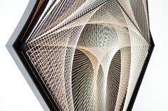 Kanata Goto, Nexus # 3(x), plyester threads, steel, 156x54.2x16.7cm, 2017 Ed.5 (detail)
