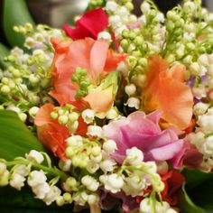 Lily of the valley and sweet pea