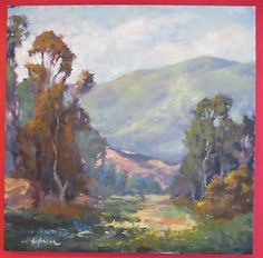 LARGE KEVIN YUEN CALIFORNIA IMPRESSIONISM EUCALYPTUS LANDSCAPE OIL PAINTING 36x36