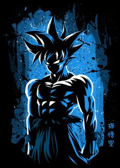 New Level Anime & Manga Poster Print Goku Blue, Goku Pics, Goku Wallpaper, Super Anime, Film D'animation, Naruto Art, Poster S, Animes Wallpapers, Dragon Ball Gt