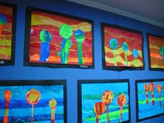 A great lesson focussing on warm and cool colours inspired by Hundertwasser  http://www.deepspacesparkle.com/2011/10/18/hundertwasser-art-lesson-for-kids/