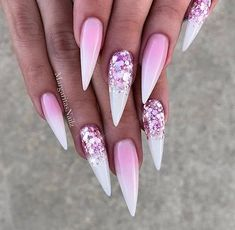 Ideas Of Glitter Ombre Nails Sofr Pink Ombre Nails With GlitterSofr Pink Ombre Nails With Glitter Best Acrylic Nails, Acrylic Nail Designs, Nail Art Designs, Nails Design, Pink Ombre Nails, Glitter Nails, Pink Glitter, Pink Stiletto Nails, Cute Nails