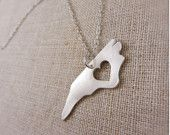 North Carolina state cut-out necklace