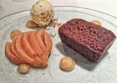 Spiced parkin with quince and honey ice cream from Medlar