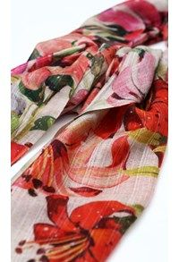 Pashmina,The Carpet Cellar,Pashmina Print Stole - Hibiscus<br>TG-262