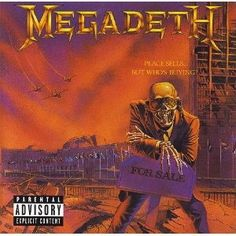 Top 50 Most Iconic Album Covers - IGN - Megadeath/Peace Sells… But Who's Buying? - Post apocalyptic artwork and metal go together like hair rock and makeup, so it is little surprise that this classic look at the United Nations following a nuclear attack, with band mascot Vic Rattlehead selling the dilapidated building, would make our list.