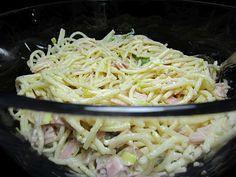 Spaghettisalat mit Schinken und Lauch, ein beliebtes Rezept aus der Kategorie Fleisch & Wurst. Bewertungen: 8. Durchschnitt: Ø 4,4.