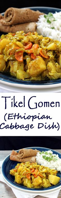 The Stay At Home Chef: Tikel Gomen : Ethiopian Cabbage Dish