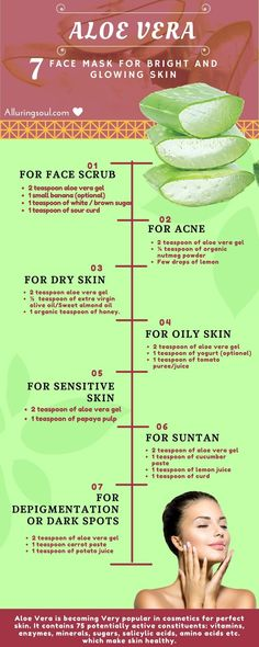 Aloe Vera face mask has many benefits which make skin healthy. Hera are some DIY homemade aloe Vera gel face mask Which will buzz up your beautiful skin. #homemadefacemasksglow