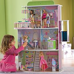 Dollhouse Doll Mall, Wooden Dollhouse Leaps and Bounds Kids